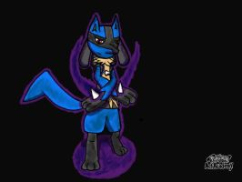 Lucario Shadow Claw! by XetaJTS