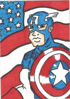 Captain America sketch card by kylemulsow