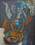 Guitar player by Maurice-Le-Coq