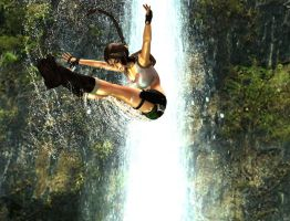 pacific coasts Lara Croft  swan dive backflip by 7ipper