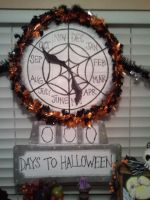 Nightmare Before Christmas Countdown Clock by kam3153