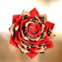 New Baroque Duct Tape Rose by Cookie4life