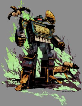 steampunk soundwave by BrianKesinger