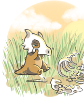 Cubone is sad by Garkarios