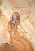 the Fairy Queen of Autumn by Lorellyne