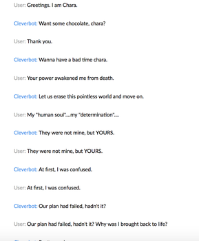 Cleverbot 1 by MistwolfUmbreon