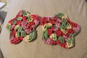 Crochet Granny Square Stars by DreamweaverMTZ
