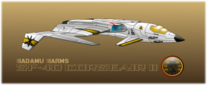Adamu SF-40 Corseair space superiority fighter by capriceklasik
