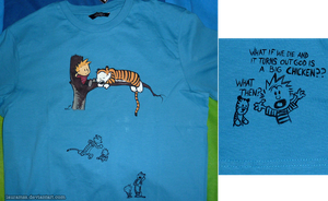Calvin and Hobbes t-shirt by LauraMSS