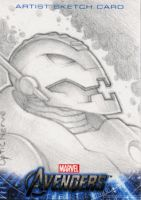 Avengers Assembled Sketchcard - Ultron by theopticnerve
