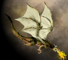 Flying dragon by Blu3Tea
