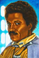 Star Wars portraits: Lando by vividfury