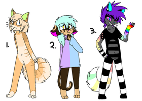 Anthro Cat Adopts (CLOSED) by Neon-Spots-Adopts