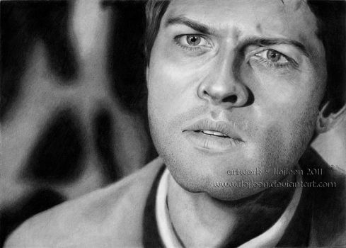 Misha Collins as Castiel by Ilojleen