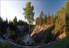 Evening on the marble quarry by NikolaiMalykh