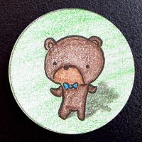 Hand Drawn Buttons - Mr Bear by gippentarp