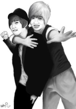 Sungmin and Yesung by SapphireDragon245