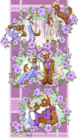Purple Petunias by Akane-The-Fox