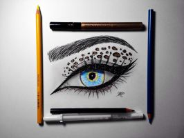 Eye Drawing in color by ChristopheragArt