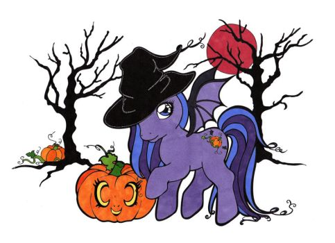 Halloween Pony Colored by Maiko-Girl