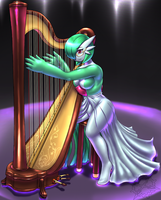 Request: The Graceful Harpist by Mykiio