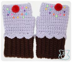 Purple Cupcake Gloves 4 by moofestgirl