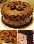 Chocolate Roses cake by Zappe