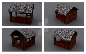 3D Wooden Shop by ILICarrieDoll