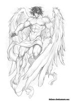 Angel sketch 01 by Felsus
