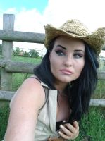 woman stock/cowgirl by L-A-Addams-Art