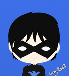 Nightwing Chibi by Ebony-Rose13