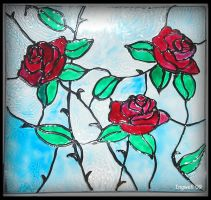 Roses Stained Glass by IngwellRitter