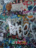 Prague Peace Graffiti by Amor-Fati-Stock