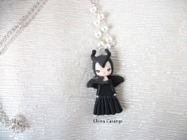 Maleficent necklace by elvira-creations