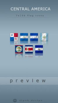 Central American Flags by alpak
