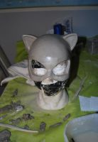 Catwoman mask sculpt by Blueloth