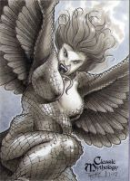 Harpy Classic Mythology Sketch Card by RichardCox