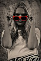 Orange Sunglasses by almasart