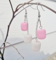 Marshmallows Earrings by kikums