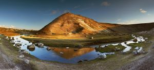 Moldovan hills at sunset by Viand