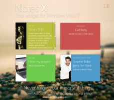 NotesX 1.0 - Windows sidebar gadget for Vista / 7 by Franchu