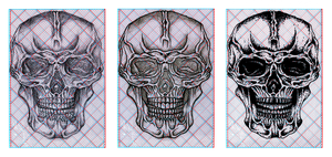 Book of Skulls for 3D specs Drawing III by MADrussky
