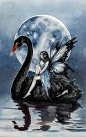 Black Swan by JannaFairyArt