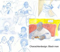 Charachter design: black man by Yetska