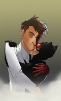Two face and catwoman kiss by pink-ninja