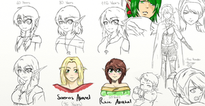 DnD: Some Sketches... by Ainwen27