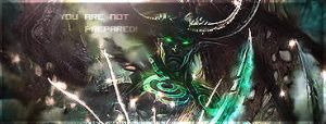 Warcraft-Illidan Stormrage sig by Monnario