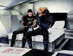 Commission Garrus x Shepp by EUDETENIS
