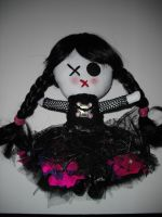Goth Chibi Doll by thedollmaker