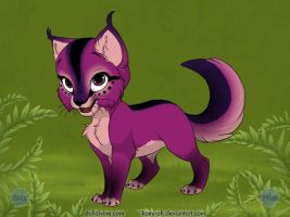 Purple Rain Kitten by Gatekat